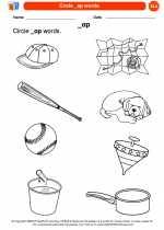 English Language Arts - Kindergarten - Worksheet: Circle _ap words.