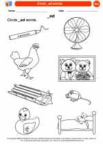 English Language Arts - Kindergarten - Worksheet: Circle _ed words.