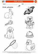 English Language Arts - Kindergarten - Worksheet: Circle _et words.