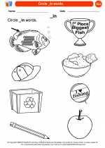 English Language Arts - Kindergarten - Worksheet: Circle _in words.