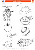English Language Arts - Kindergarten - Worksheet: Circle _ip words.