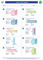 Mathematics - Fifth Grade - Worksheet: Volume/Capacity