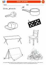 English Language Arts - Kindergarten - Worksheet: Circle _ot words.