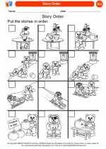 English Language Arts - Kindergarten - Worksheet: Story Order