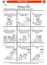 English Language Arts - Kindergarten - Worksheet: Writing a Story