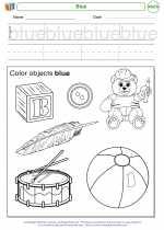 Mathematics - Kindergarten - Worksheet: Blue