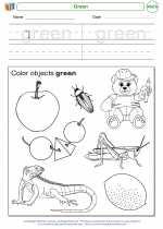 Mathematics - Kindergarten - Worksheet: Green