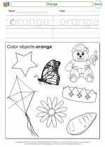 Mathematics - Kindergarten - Worksheet: Orange