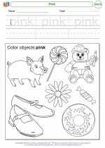 Mathematics - Kindergarten - Worksheet: Pink