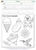 Mathematics - Kindergarten - Worksheet: Purple