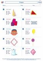 Mathematics - First Grade - Worksheet: Shapes
