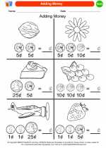 Mathematics - Kindergarten - Worksheet: Adding Money