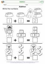 Mathematics - Kindergarten - Worksheet: Addition