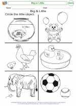Mathematics - Kindergarten - Worksheet: Big or Little