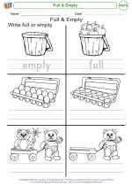 Mathematics - Kindergarten - Worksheet: Full & Empty