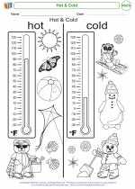 Mathematics - Kindergarten - Worksheet: Hot & Cold