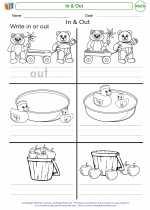 Mathematics - Kindergarten - Worksheet: In & Out