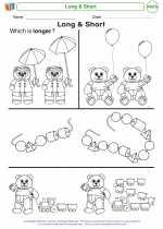Mathematics - Kindergarten - Worksheet: Long & Short