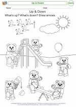 Mathematics - Kindergarten - Worksheet: Up & Down