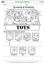 Mathematics - Kindergarten - Worksheet: Grouping & Graphing