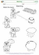 Mathematics - Kindergarten - Worksheet: Matching