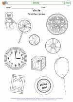 Mathematics - Kindergarten - Worksheet: Circle