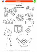 Mathematics - Kindergarten - Worksheet: Diamond