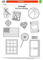 Mathematics - Kindergarten - Worksheet: Rectangle