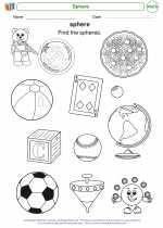 Mathematics - Kindergarten - Worksheet: Sphere