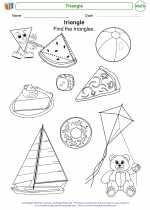 Mathematics - Kindergarten - Worksheet: Triangle