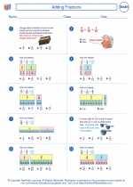 Mathematics - Sixth Grade - Worksheet: Adding Fractions