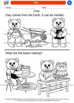 Science - Kindergarten - Worksheet: Clay