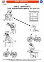 Science - Kindergarten - Worksheet: Making Observations