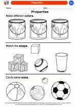 Science - Kindergarten - Worksheet: Properties