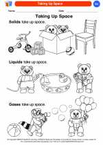 Science - Kindergarten - Worksheet: Taking Up Space