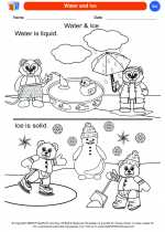 Science - Kindergarten - Worksheet: Water and Ice