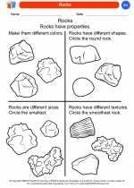 Science - Kindergarten - Worksheet: Rocks