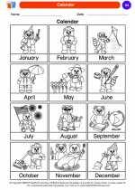 Science - Kindergarten - Worksheet: Calendar