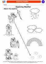Science - Kindergarten - Worksheet: Exploring Weather