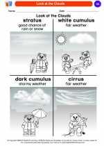 Science - Kindergarten - Worksheet: Look at the Clouds