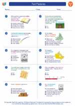 English Language Arts - Sixth Grade - Worksheet: Text Features