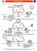Science - Kindergarten - Worksheet: Sun and Shadows