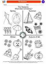 Science - Kindergarten - Worksheet: The Seasons