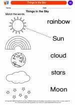 Science - Kindergarten - Worksheet: Things in the Sky
