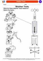 Science - Kindergarten - Worksheet: Weather Tools