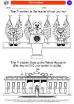 Social Studies - Kindergarten - Worksheet: The President