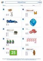 Mathematics - First Grade - Worksheet: Odd and Even