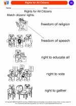 Social Studies - Kindergarten - Worksheet: Rights for All Citizens