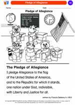Social Studies - Kindergarten - Worksheet: Pledge of Allegiance