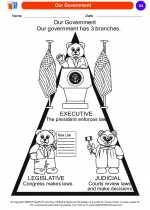 Social Studies - Kindergarten - Worksheet: Our Government